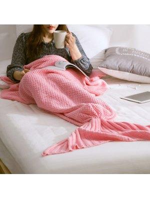 Warm Knitted Mermaid Tail Blanket