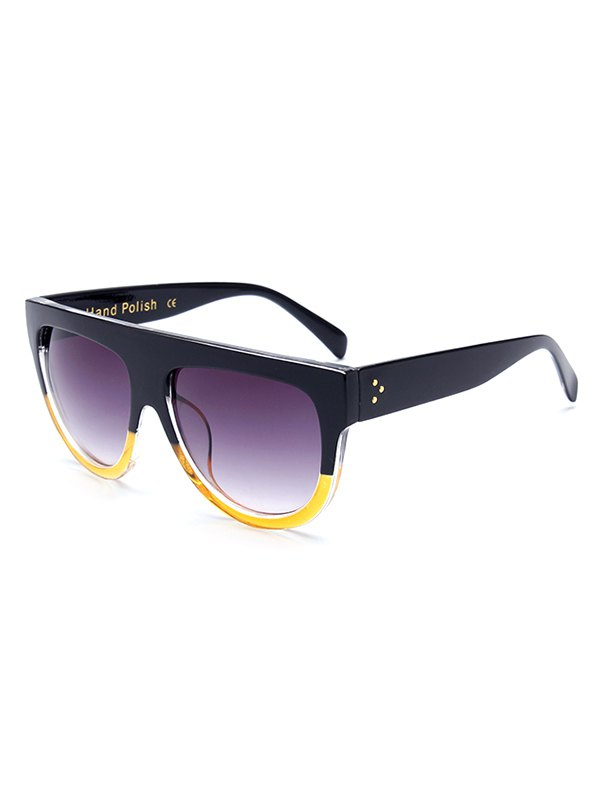 Simple Two Color Match Sunglasses