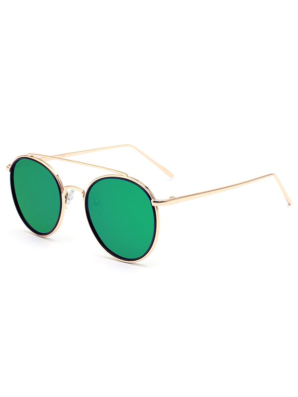 Crossbar Golden Mirrored Sunglasses For Women