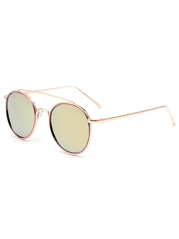 Crossbar Pink Mirrored Sunglasses For Women