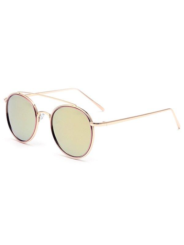 Crossbar Pink Mirrored Sunglasses For Women