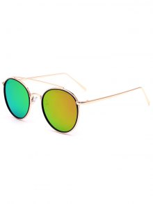 Crossbar Golden Mirrored Sunglasses