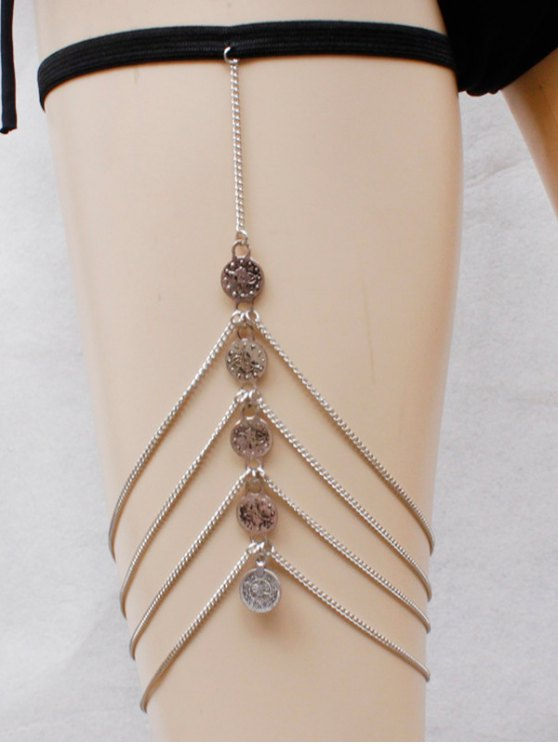 Coins Body Chain - SILVER  Mobile