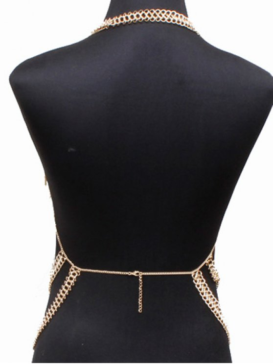Alloy Hollow Out Body Chain - GOLDEN  Mobile