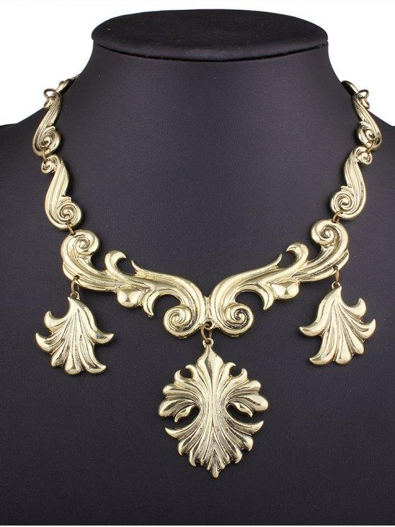 buy Engraving Pendant Necklace - GOLDEN