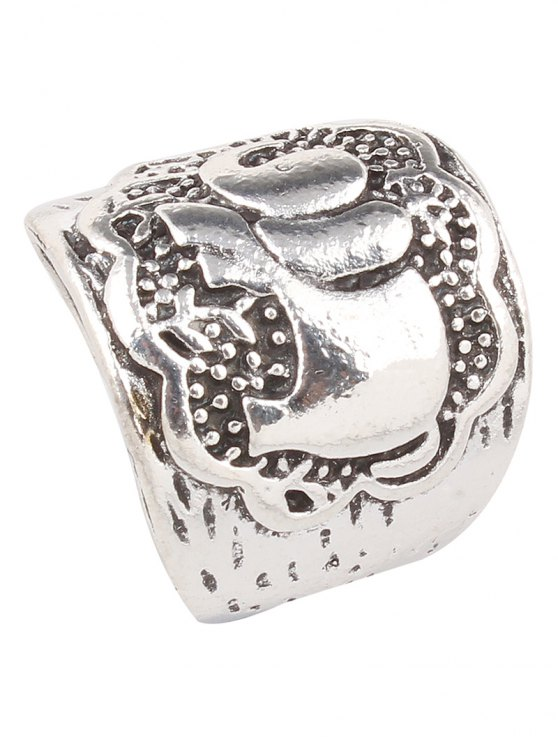 Engraved Elephant Etched Rings - SILVER  Mobile