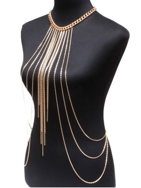 outfits Alloy Body Chain - GOLDEN  Mobile