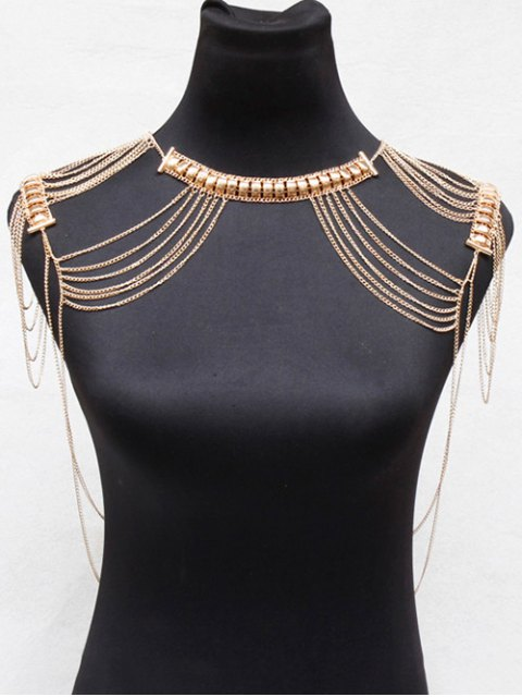 sale Alloy Hollowed Body Chain - GOLDEN  Mobile