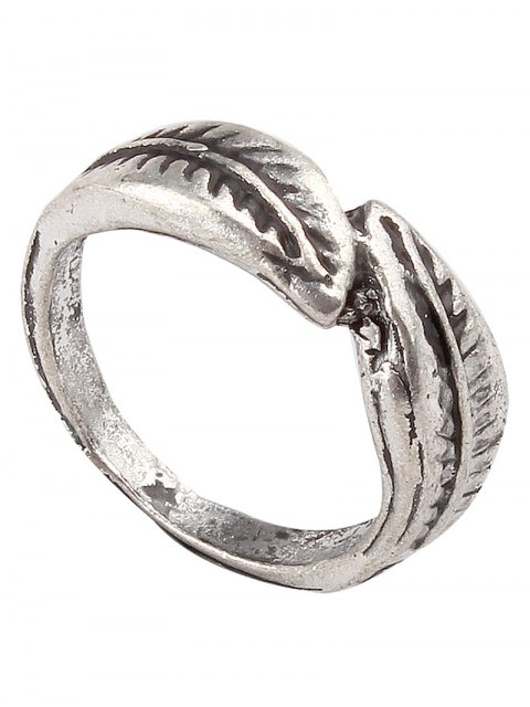 sale Carving Eagle Leaf Rings - SILVER  Mobile
