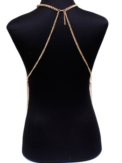 Rhinestone Body Chain - GOLDEN  Mobile