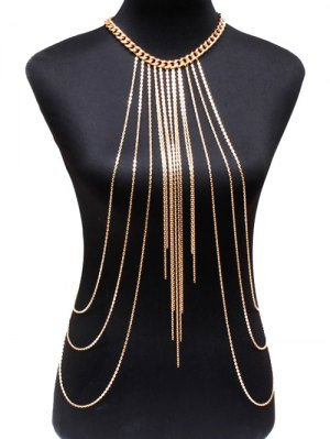 Alloy Body Chain - Golden
