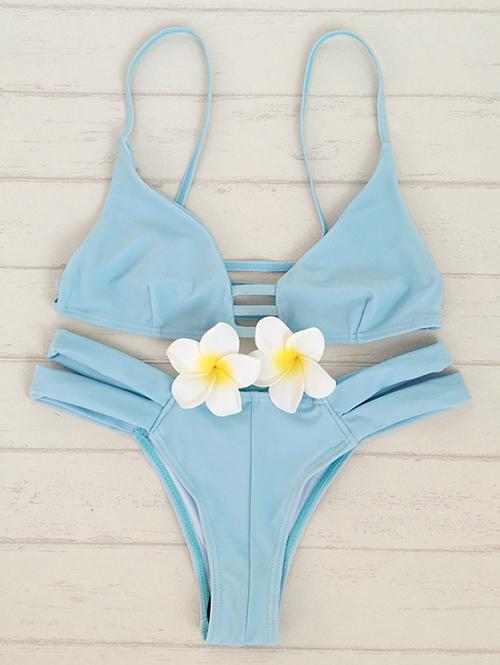 Cami Solid Color Bikini Set 185090103