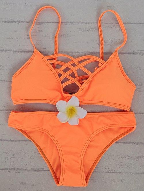 Cami Solid Color Bikini Set 185091802