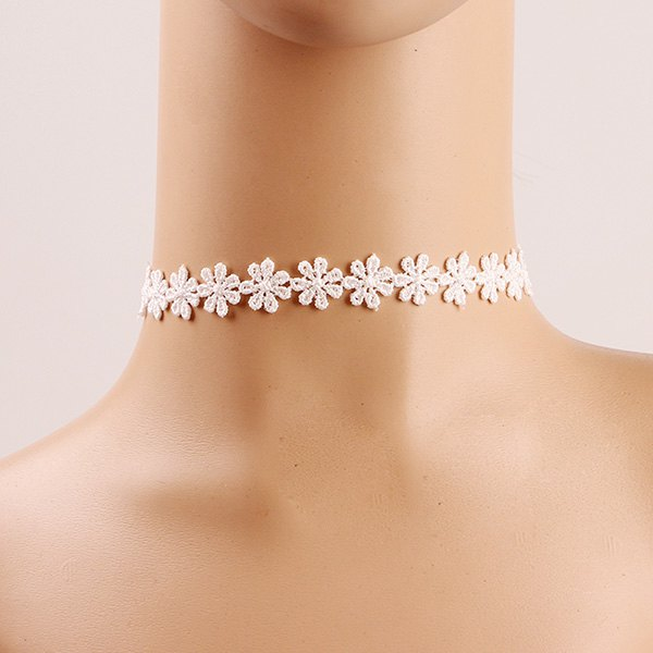 Crochet Flower Lace Choker