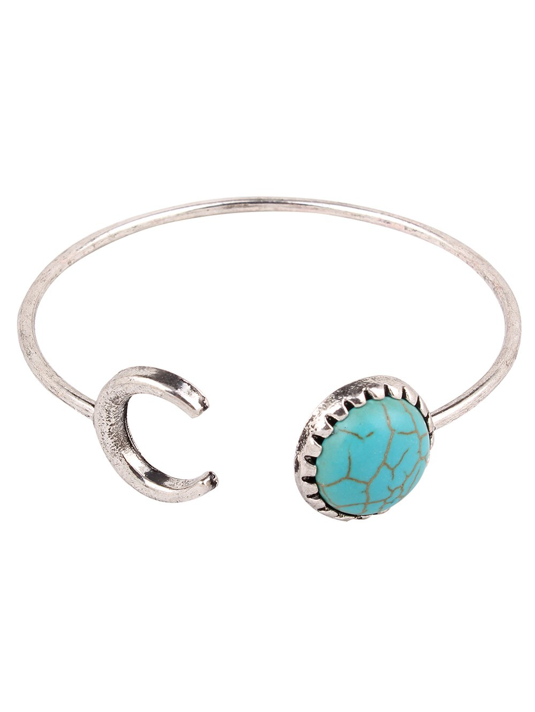 Faux Turquoise Crescent Bracelet
