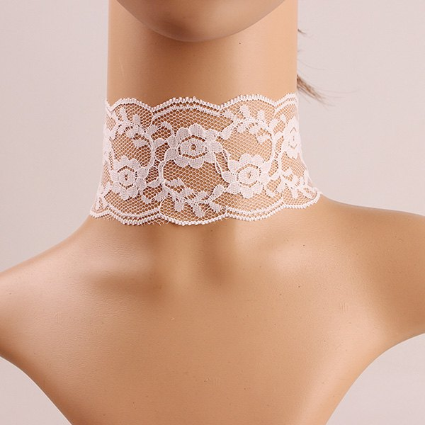 Crochet Flower Lace Choker Necklace