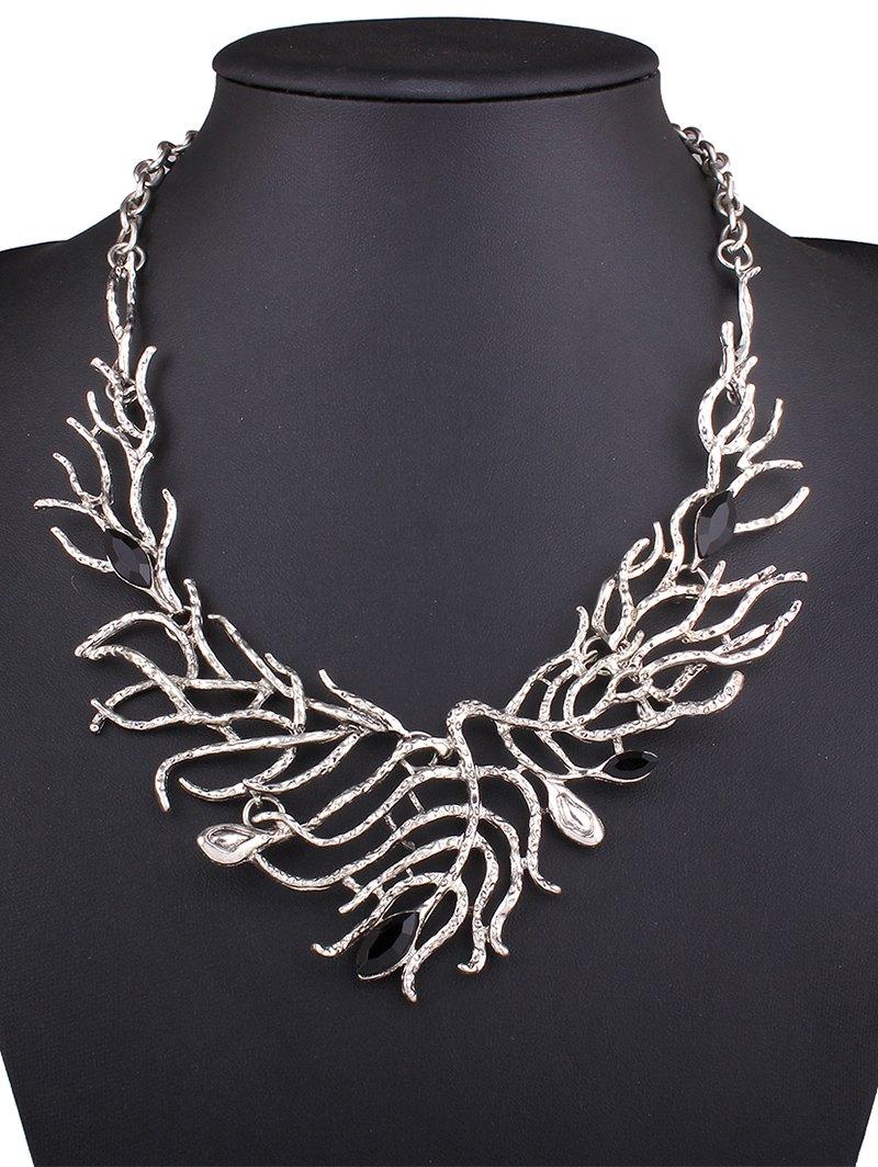 Resin Branch Leaf Necklace