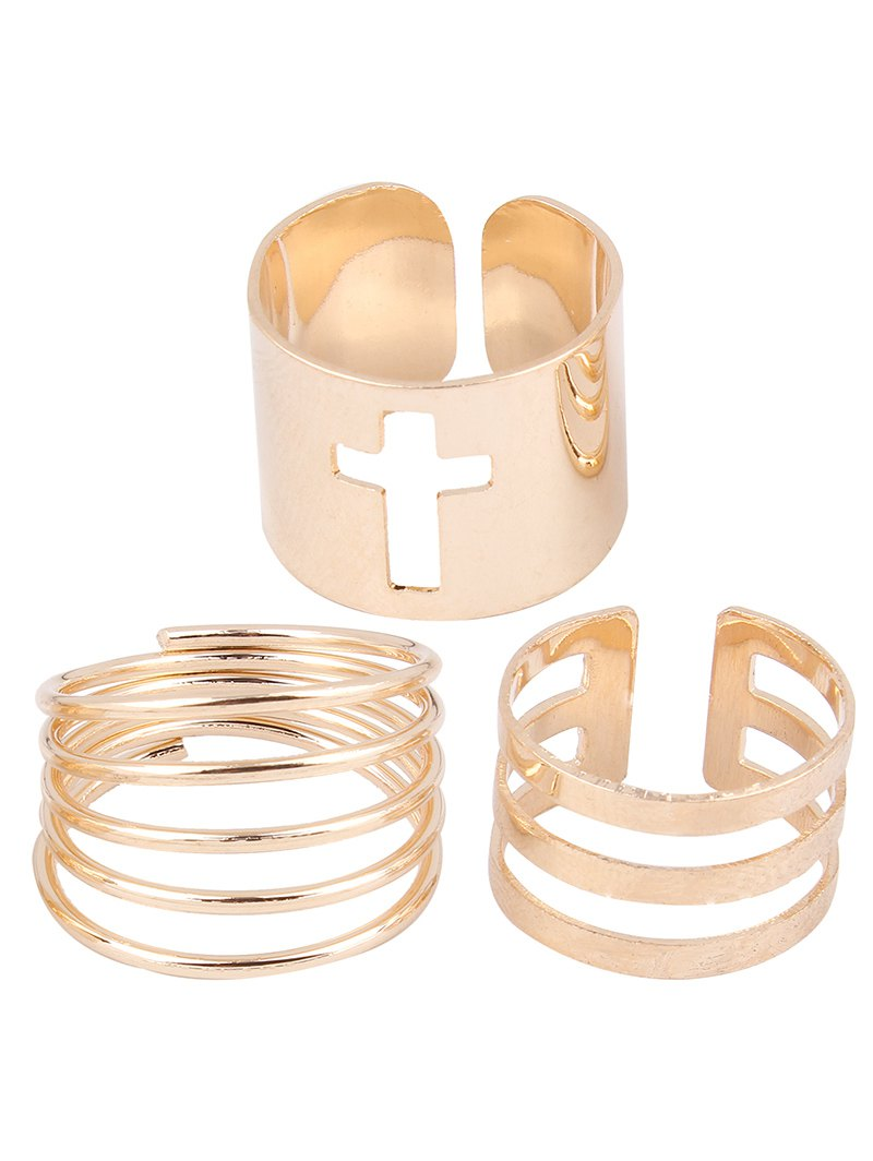 Cross Spring Opening Rings