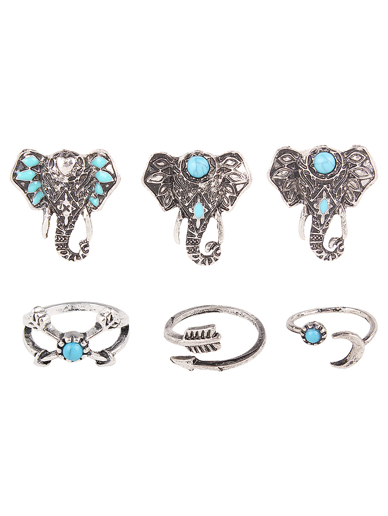 Elephant Arrow Opening Rings