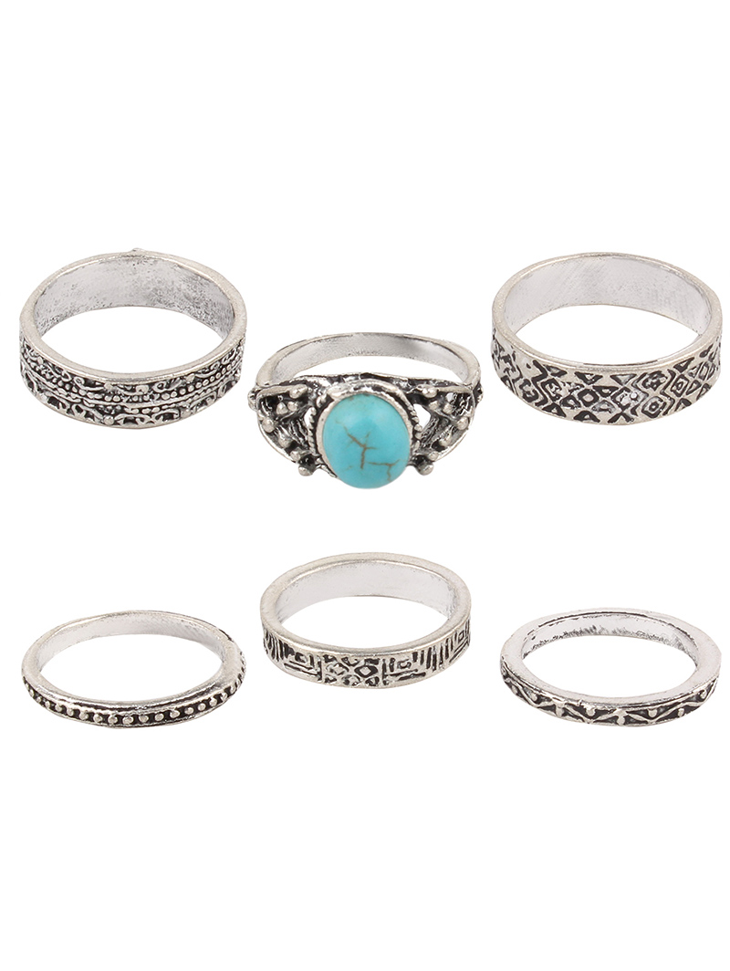 Vintage Faux Turquoise Rings