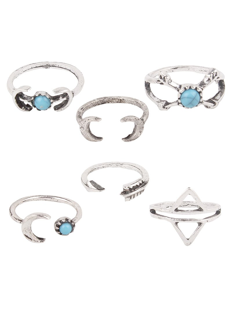 Crescent Arrow Opening Rings