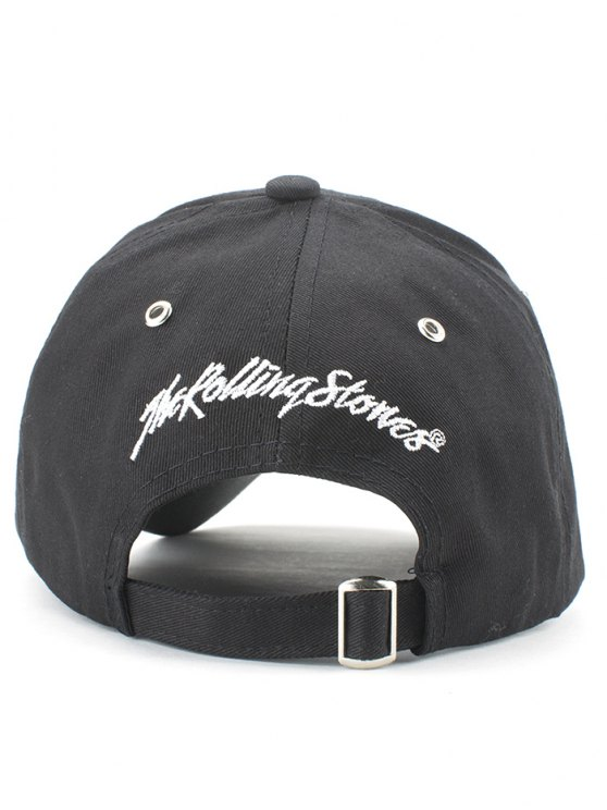 Stick Out Tongue Baseball Hat - BLACK  Mobile