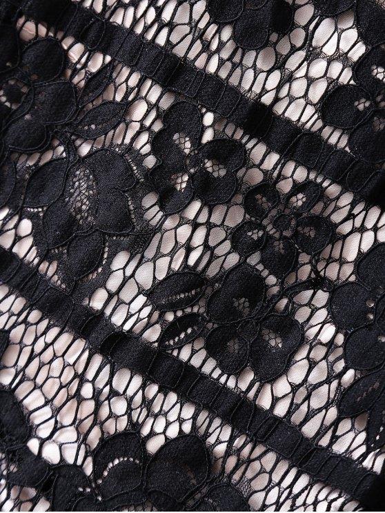 Open Back Prom Dress - BLACK L Mobile