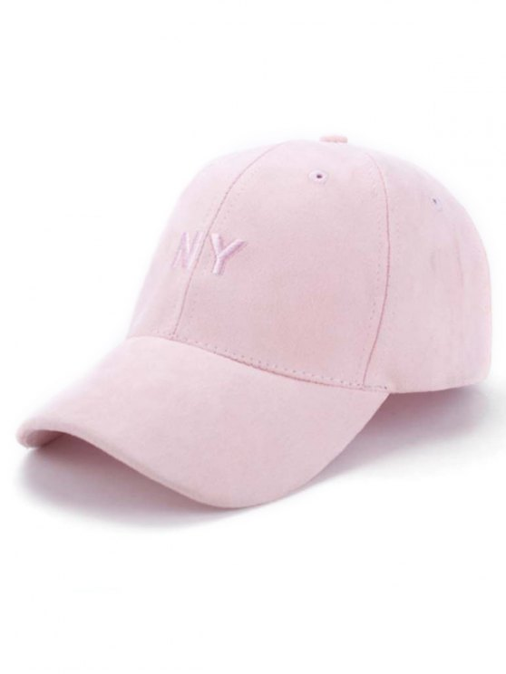 Faux Suede Baseball Hat - PINK  Mobile