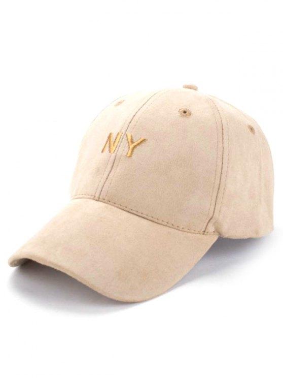 sale Faux Suede Baseball Hat - KHAKI