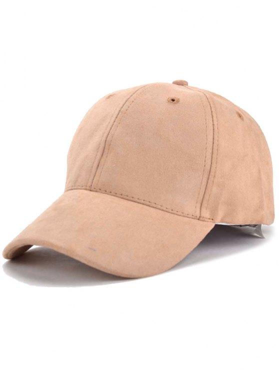 women's Faux Suede Letter Baseball Hat - KHAKI