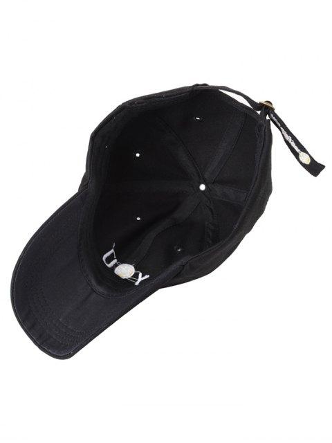 smiley broderie casquette de baseball noir chapeaux zaful. Black Bedroom Furniture Sets. Home Design Ideas