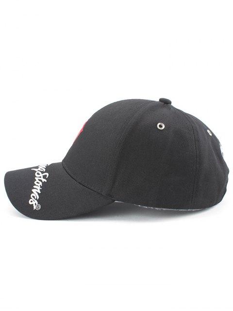 hot Stick Out Tongue Baseball Hat - BLACK  Mobile