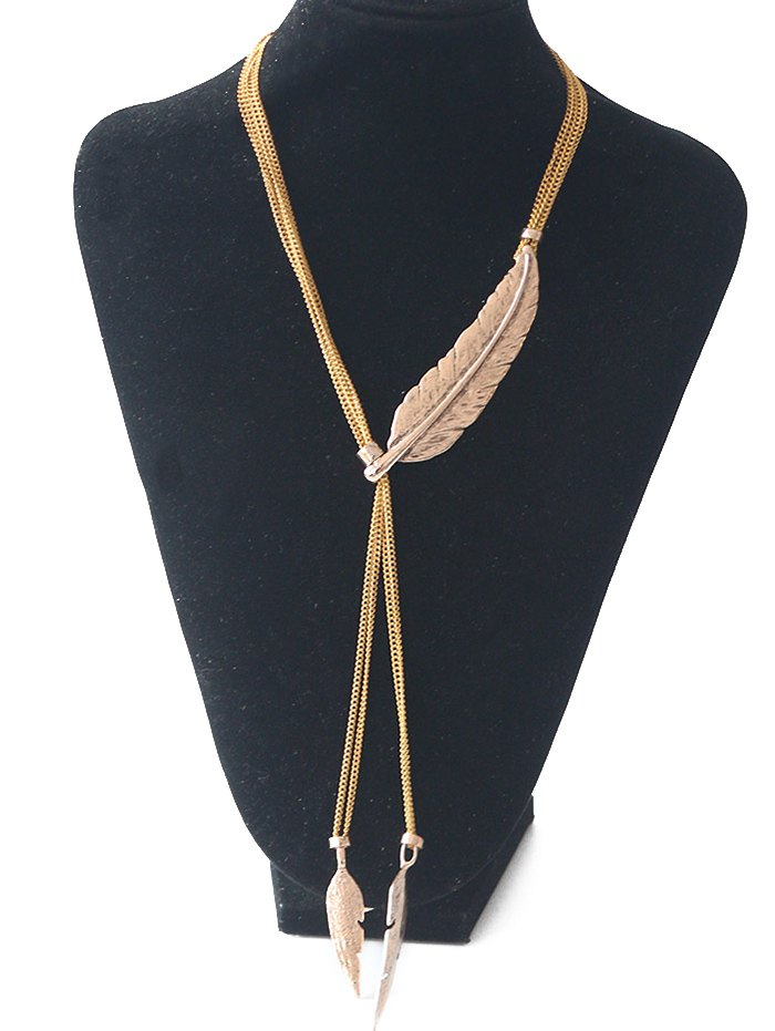 Vintage Leaf Sweater Chain