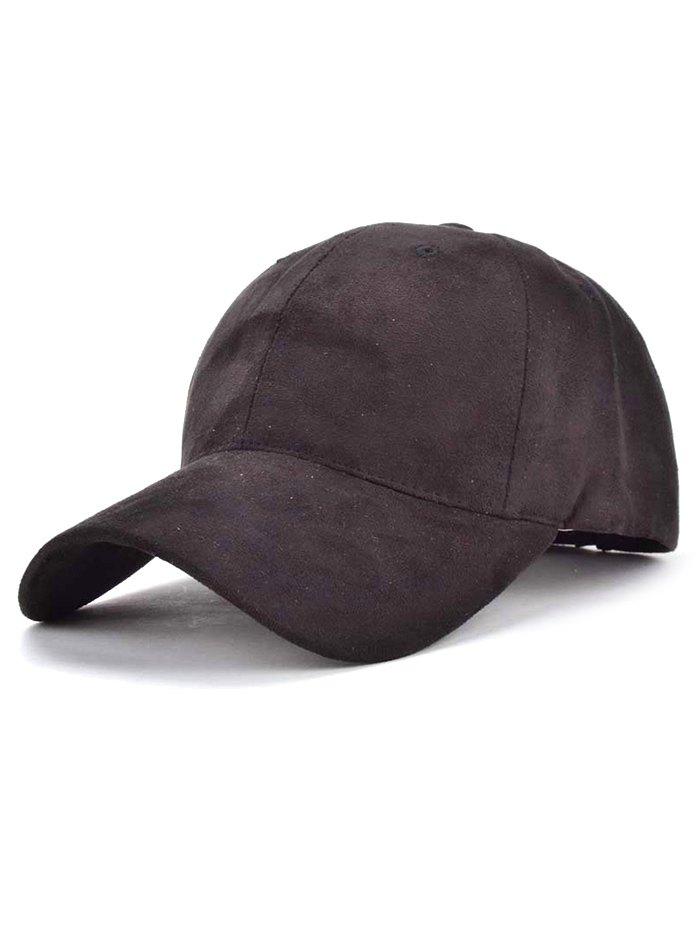 Faux Suede Letter Baseball Hat