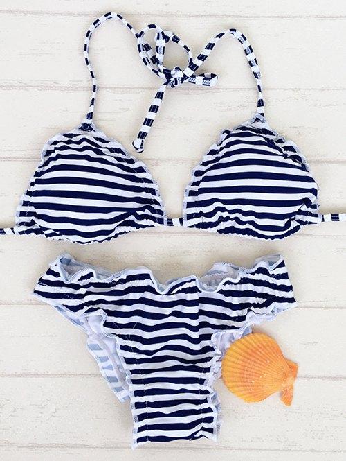 Striped Stringy Selvedge Bikini Set