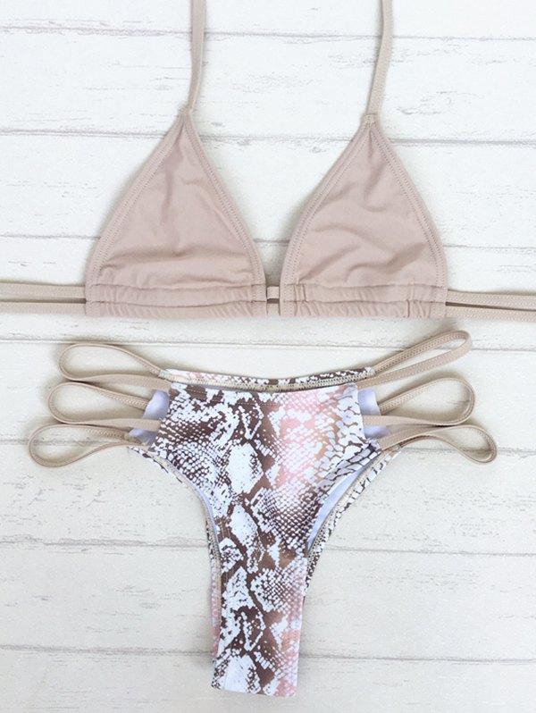 Stringy Snake Print Bikini Set