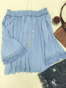 Short Fringe Off Shoulder Top