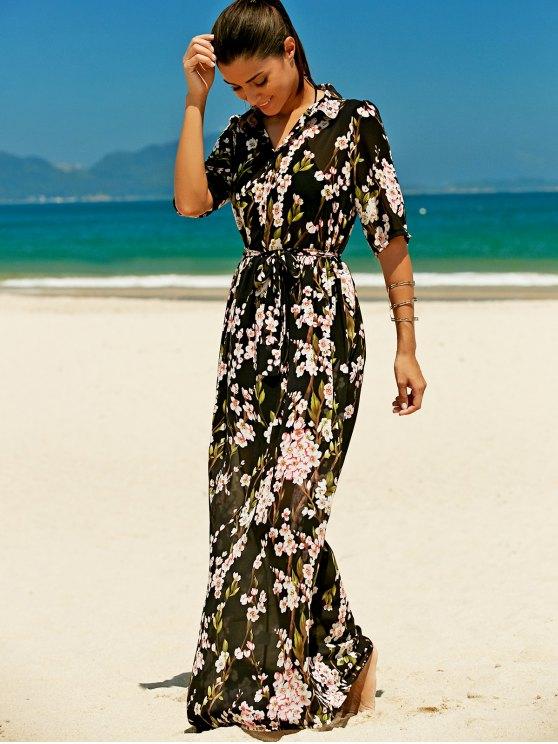Шифоновое макси-платье | ZAFUL