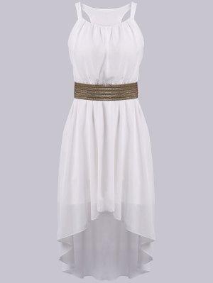 Spaghetti Strap High Low Sleeveless Dress