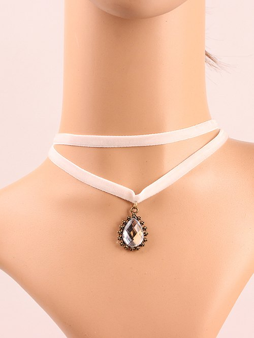 Faux Crystal Layered Choker