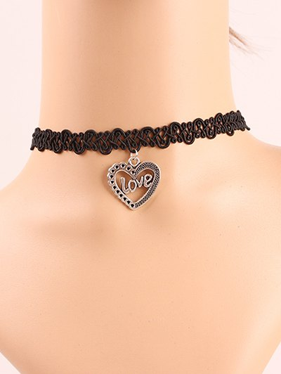 Love Heart Lace Choker Necklace