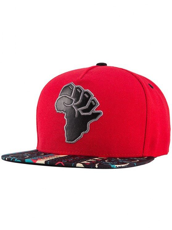 Carte africaine Snapback Hat - Rouge