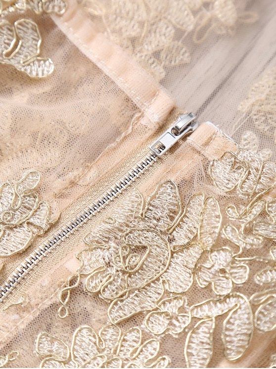 Halter See-Through Lace Tank Top - GOLDEN S Mobile