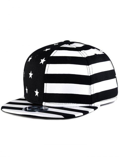 best US Flag Snapback Hat - BLACK  Mobile