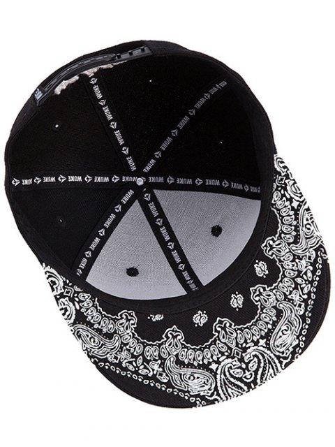 new Pentagram Embroidery Snapback Hat - BLACK  Mobile