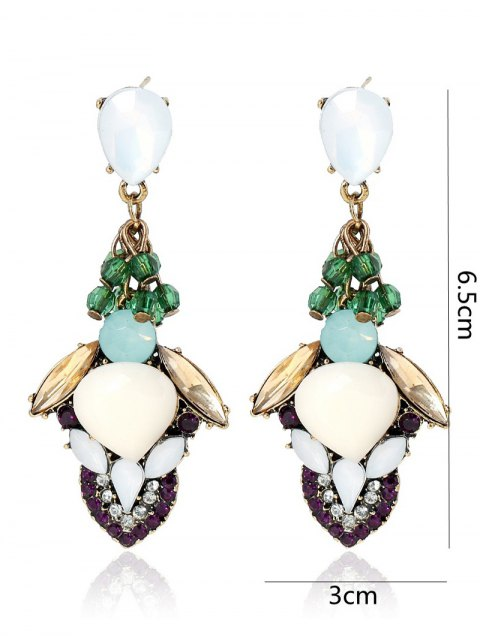 latest Stacked Faux Gem Earrings - COLORMIX  Mobile