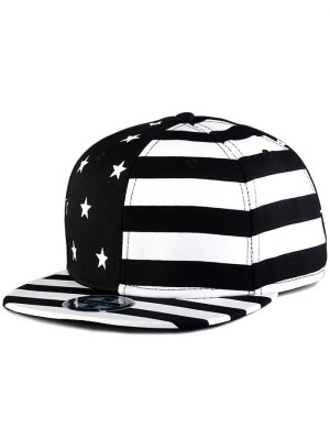 US Flag Snapback Hat - Black