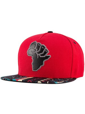 African Map Snapback Hat - Red