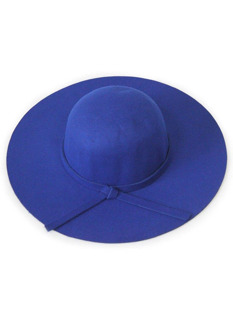Solid Color Knot Felt Floppy Hat