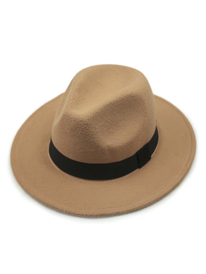 Vintage Wide Brim Felt Fedora Hat